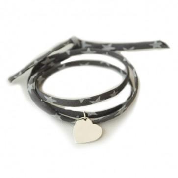 Bracelet Liberty personnalisé - Coeur 15mm en argent