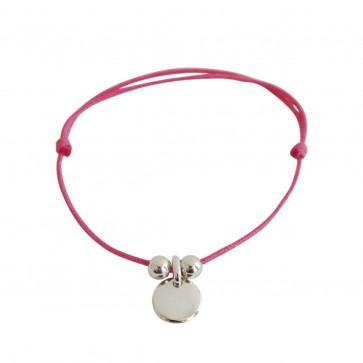 Bracelet cordon personnalisé - mini-médaille gravé