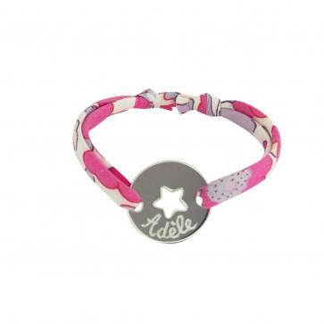 Bracelet Liberty personnalisé - Jeton étoile en argent