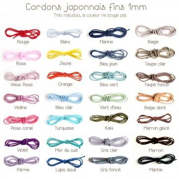 Cordons japonnais de la maison Mokuba fins - 1mm