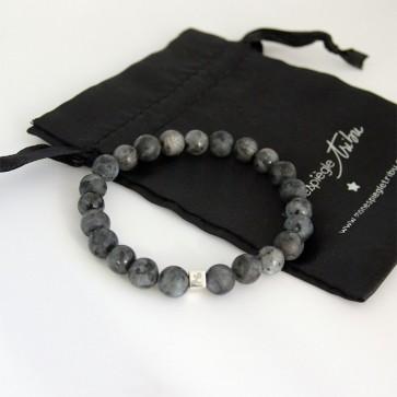Bracelet perles Larvitike pour homme - 1 à 4 cubes à personnaliser