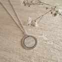 Collier personnalisé en argent  - Médaille ethnique gravée