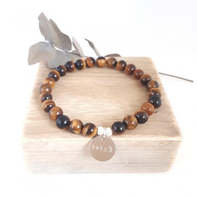 Bracelet perles pour homme - Oeil du tigre