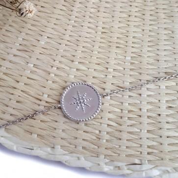 Bracelet chaîne étoile personnalisé en argent