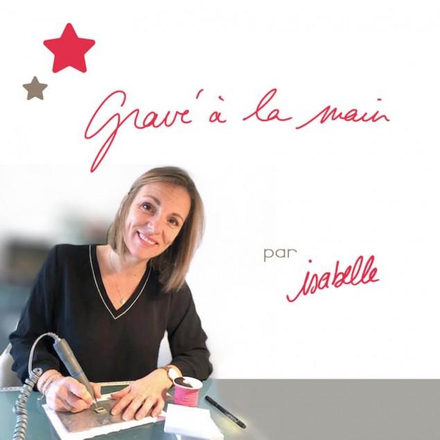 Bracelet cordon personnalisé gravé à la main par Isabelle