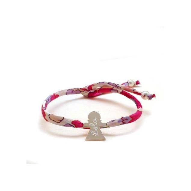 Bracelet Liberty personnalisé 1 à 4 personnages - Argent
