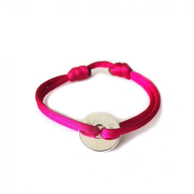 Bracelet cordon petite cible personnalisé - Argent