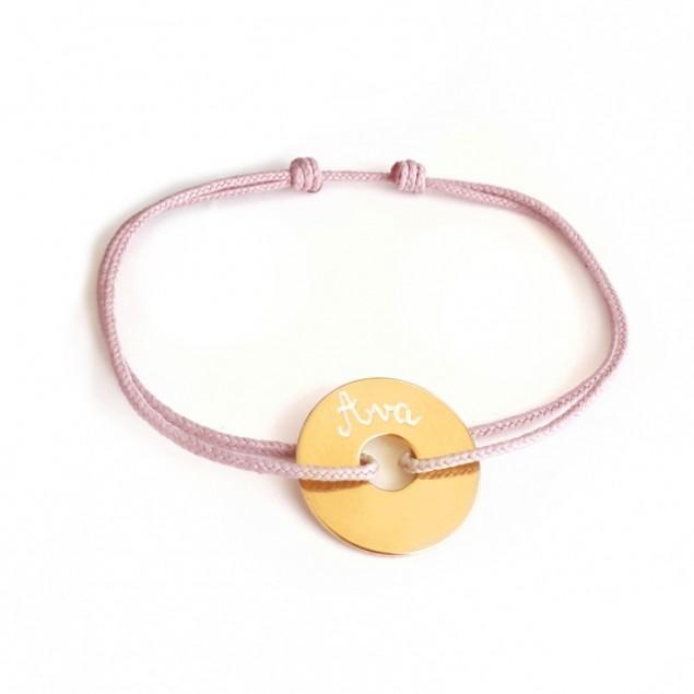 Bracelet cible plaqué or personnalisé