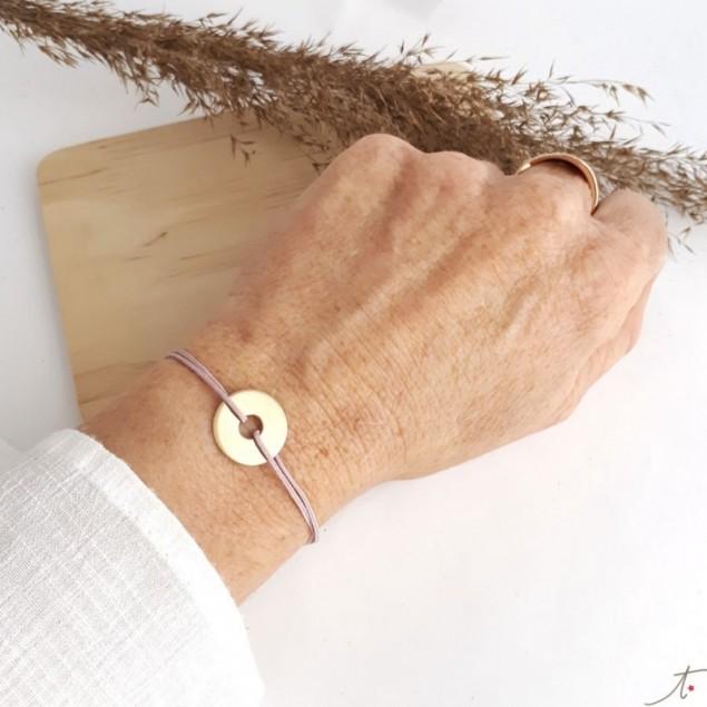 Bracelet cible dorée gravée