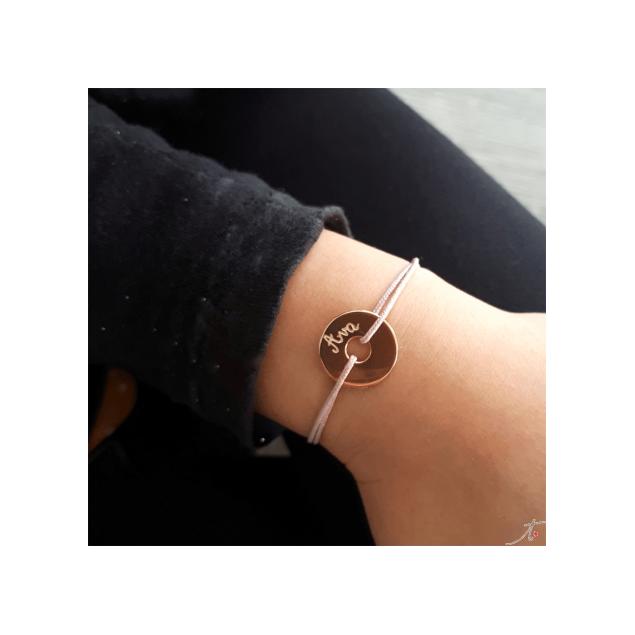 Bracelet petite cible plaquée or pour enfant