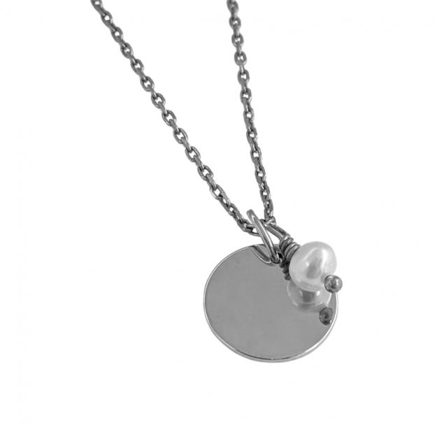 Collier personnalisé avec argent 925   avec pierre de naissance du mois de juin