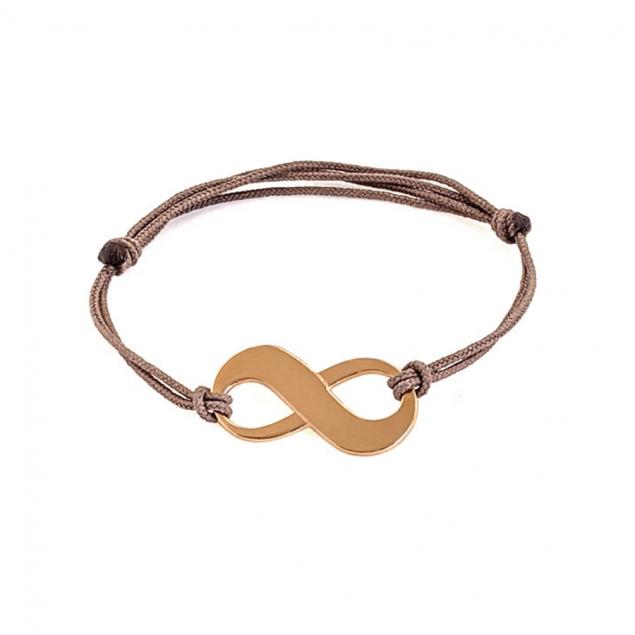 Bracelet infini personnalisé femme - plaqué or
