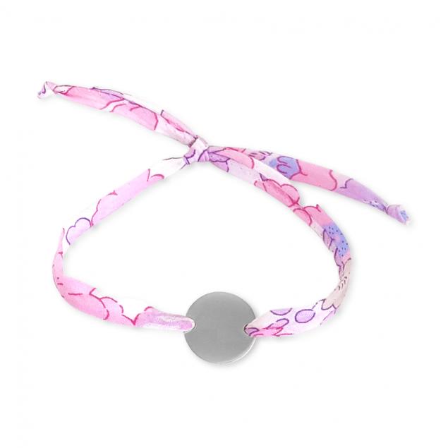 Bracelet Liberty jeton gravé - Argent ou plaqué or