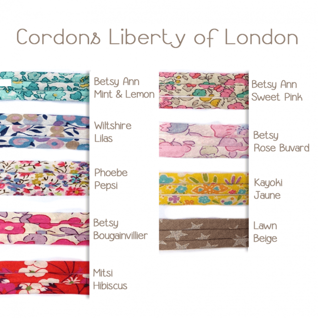 Bracelet cordon Liberty of London 4mm