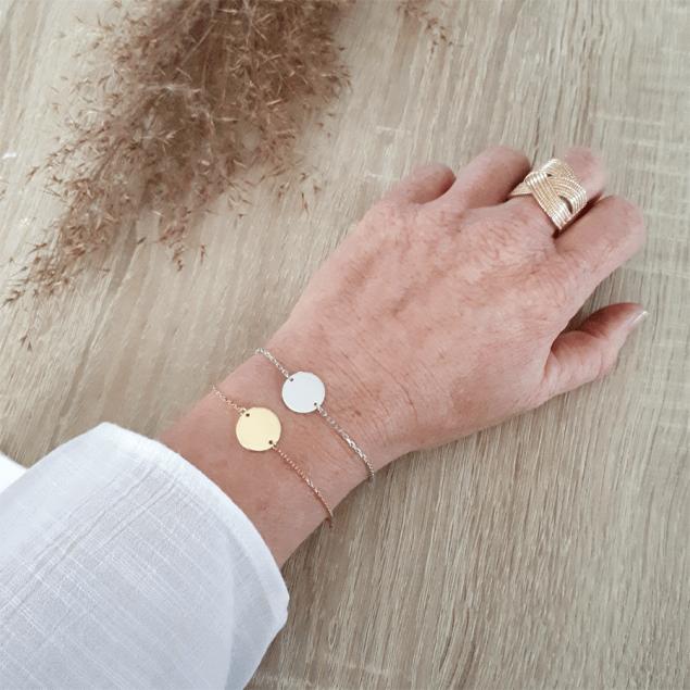 Bracelet personnalisé Jeton sur chaîne