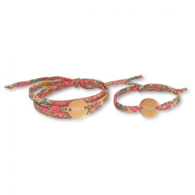 DUO Bracelets Liberty Mère Fille - Argent ou Plaqué or