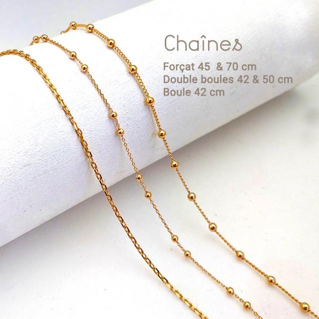 Chaîne collier seule - Plaqué or